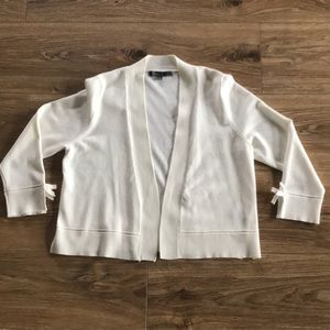 89th & Madison Off White Cardigan with Bow Sleeves